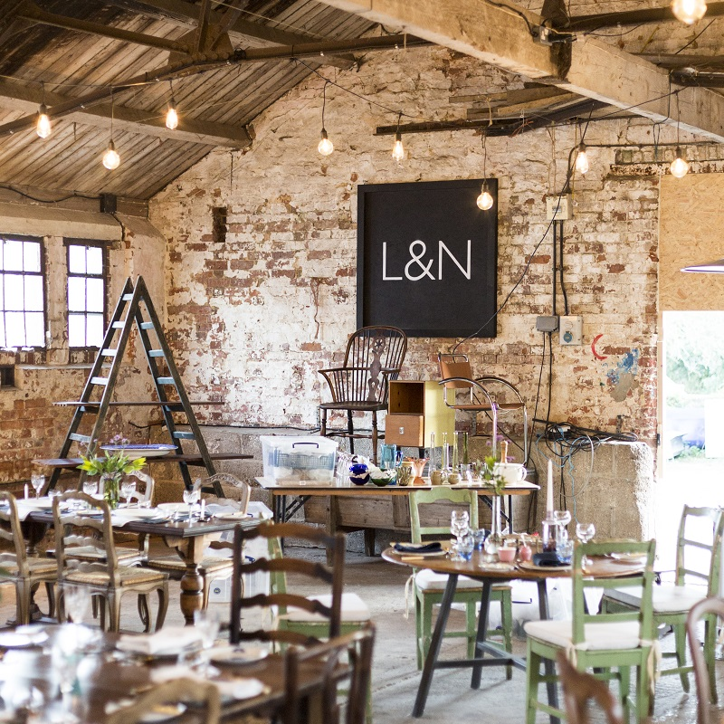 Lamb & Newt pop-up restaurant with vintage furniture displayed