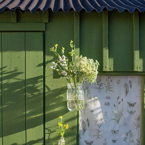 Exterior Eggshell - Passiflora painted shed