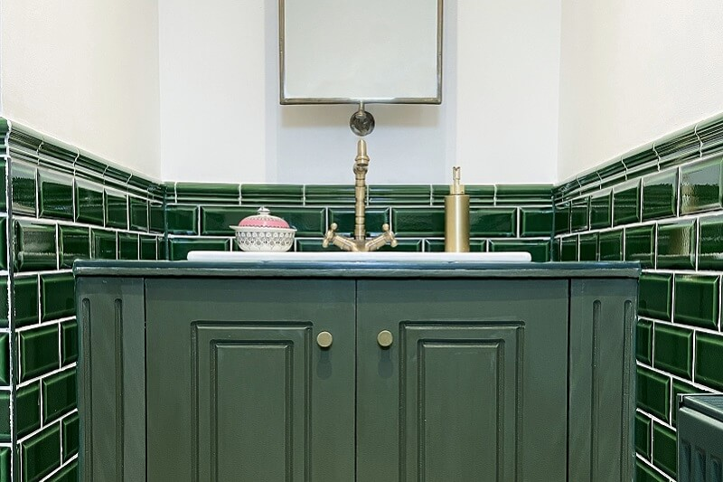 Olive Green Bathroom Cabinet