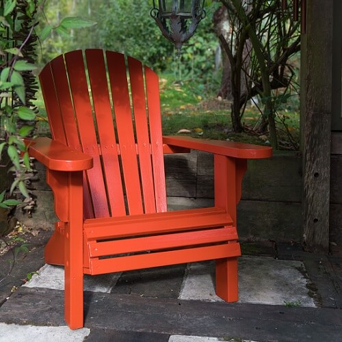 Burnt Orange Garden Chair 500x500