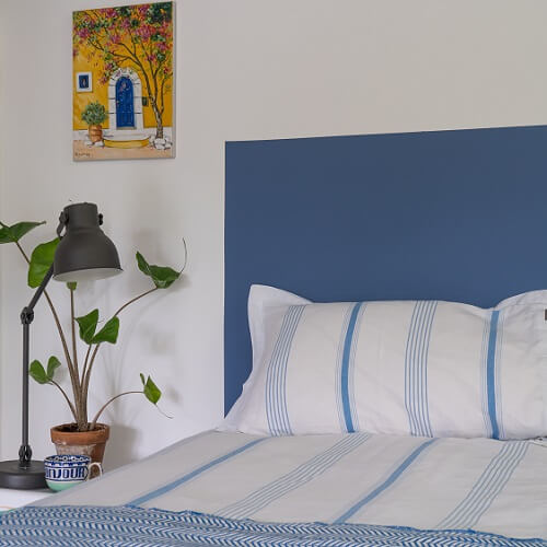 Headboard in Stow Blue