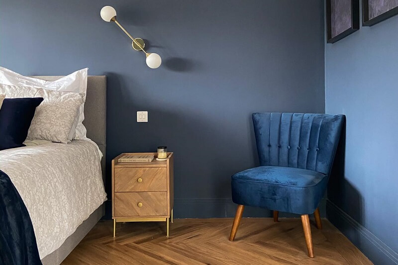 Inky Blue bedroom