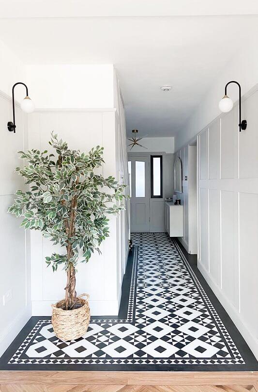 Limestone Panelling in Hallway