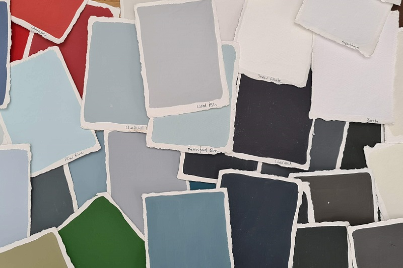 Painted sheets with colours