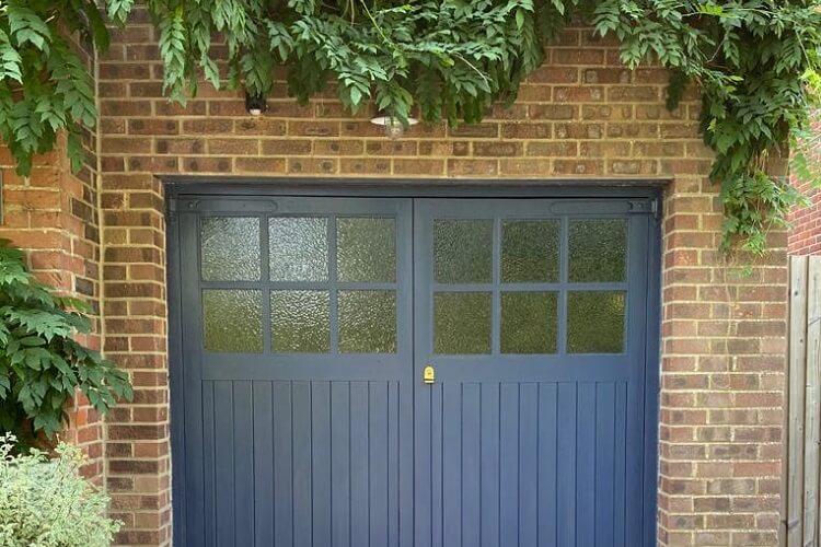 Garage Doors in Inky Blue - blog header