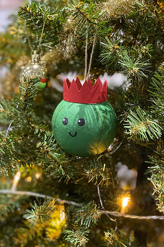 Sprout painted bauble